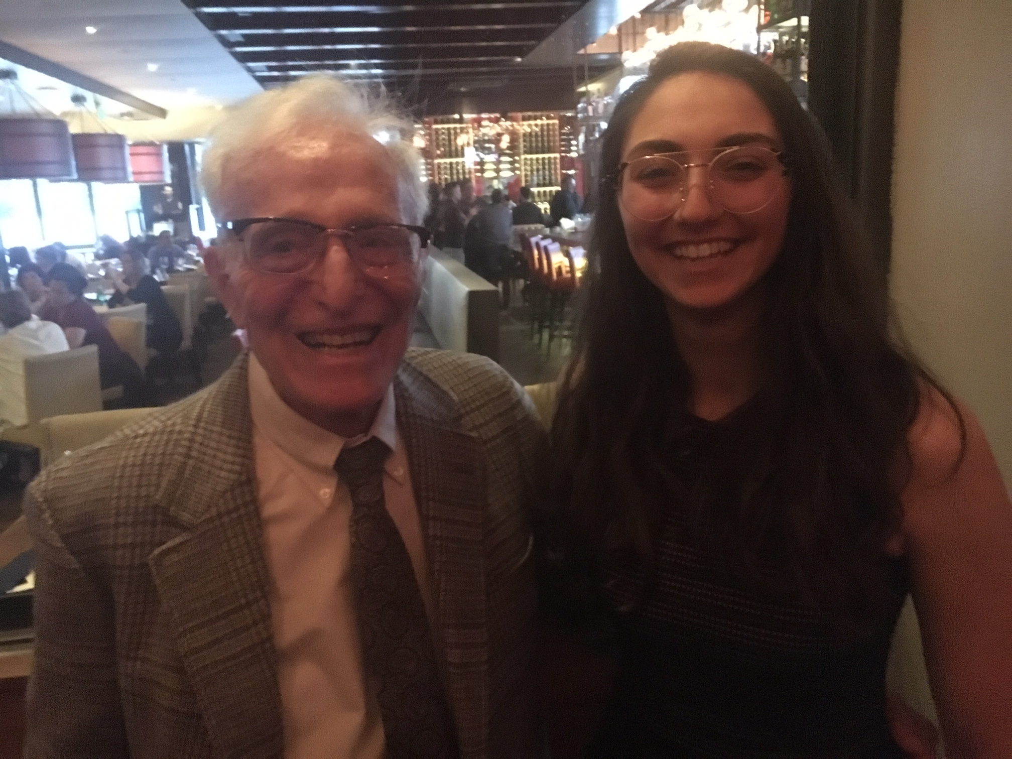 Albert Dorman and Yasmine Ghattas at alumni dinner in California