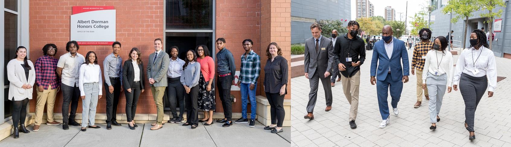 Newark Mayor's Scholars Group Photo, and Photo With Mayor Baraka