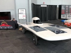 Solar Car Team at NYC Auto Show 2019